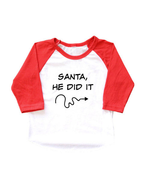 Million Polkadots Santa, He Did It T-Shirt~1511773619