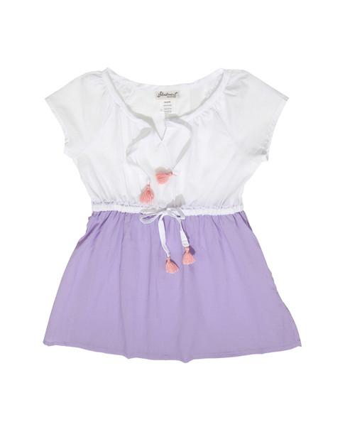 Floatimini Raglan Sleeve Slit Neckline Cover-Up Dress~1545235567