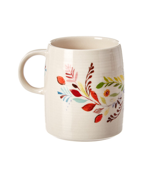 anthropologie Petal Palette Monogram Mug~3050250768