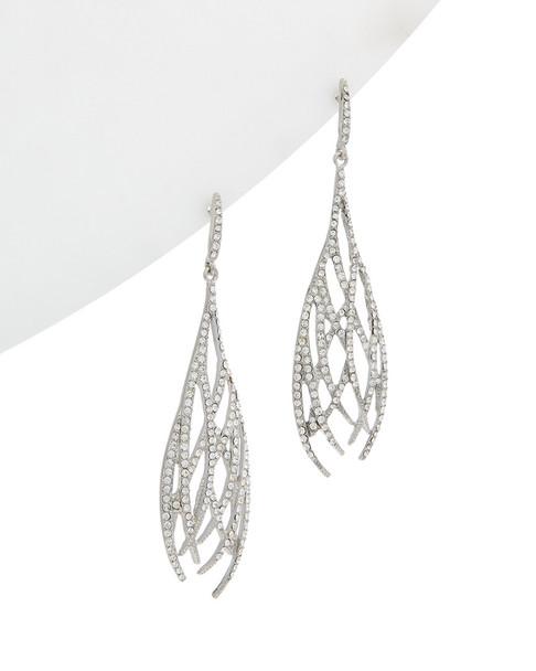 Kenneth Jay Lane Rhodium Plated Drop Earrings~60302177160000