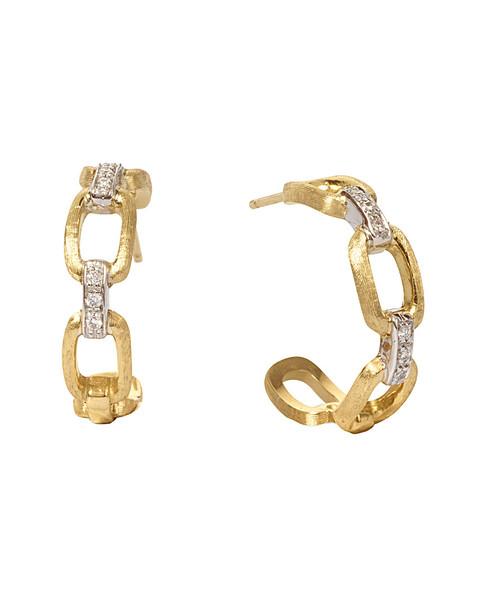 Marco Bicego Murano 18K 0.09 ct.tw. Diamond Hoops~60302223160000