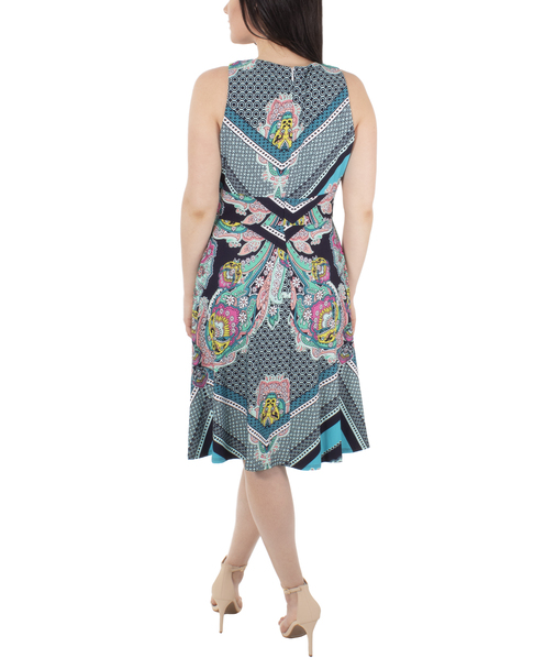 Sleeveless Keyhole Printed Maxi Dress~Multi Flowereign*MITD3992