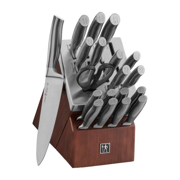 HENCKELS Graphite 20-Piece Self-Sharpening Knife Block Set~17633-020