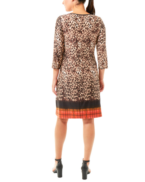 Animal Print Lattice Keyhole Dress~Black Tigerduo*MITD3628
