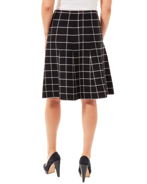 Windowpane Jacquard Knit Skirt~Gaia*MSVK0127