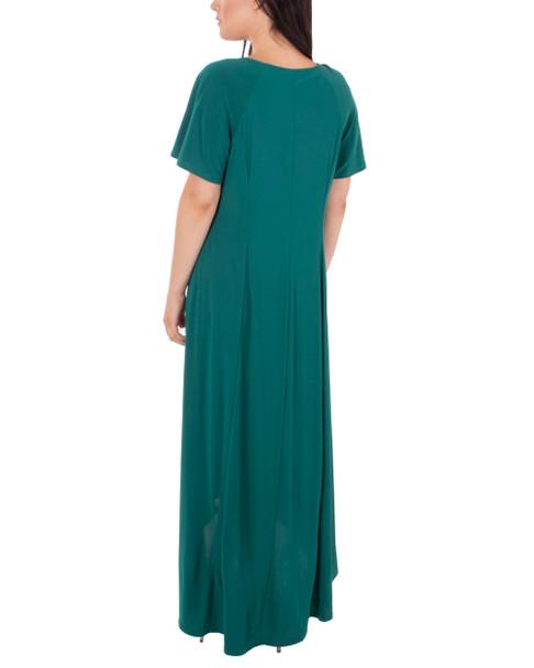 Short Sleeve Embellished High-Low Dress~Jade*MITD4006