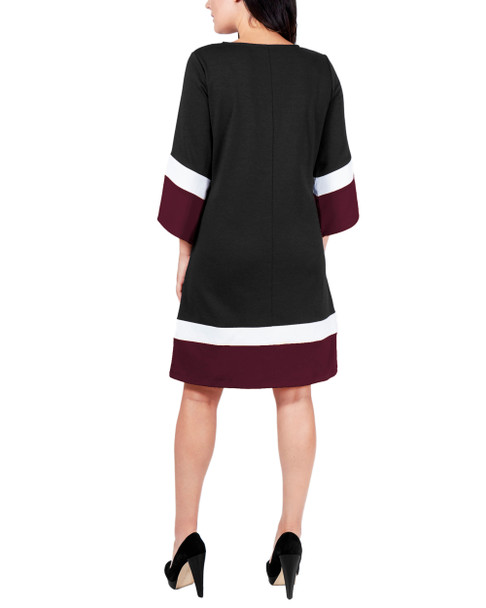 Color Block A-Line Dress~Jet Tricombo*MDKD0397