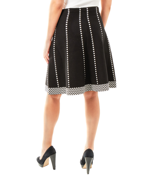 Checkered Jacquard Knit Skirt~Leia*MSVK0128
