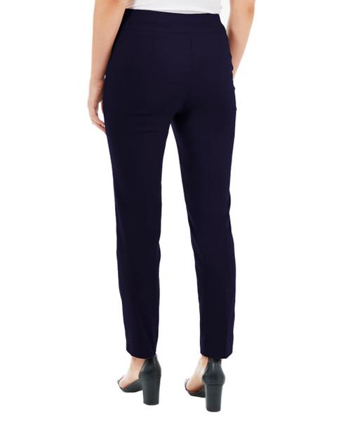 Split Waist Slim Fit Pants~Navy Caviarbar*MRNL0210