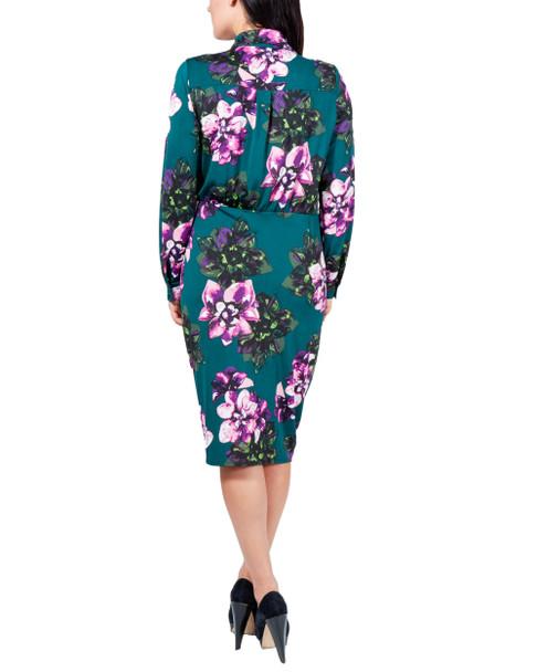 Floral Side Tie Shirt Dress~Olive Cabofleur*MITD3625