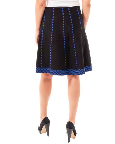 Checkered Jacquard Knit Skirt~Raine*MSVK0128
