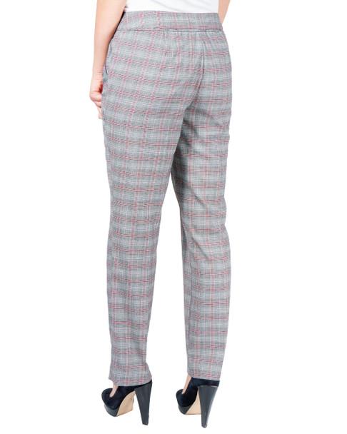 Plaid Slim Leg Trouser~Ruby Niaplad*MPZL0152