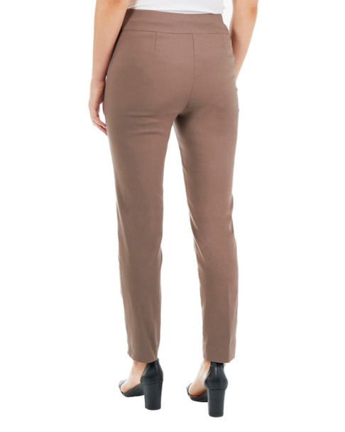 Split Waist Slim Fit Pants~Taupe Cioccolato*MRNL0210