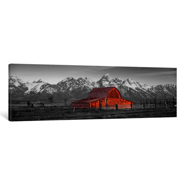 "iCanvas ""Barn Grand Teton National Park WY USA Color Pop"" by Panoramic Images Canvas Print~ICA1181-1PC3"