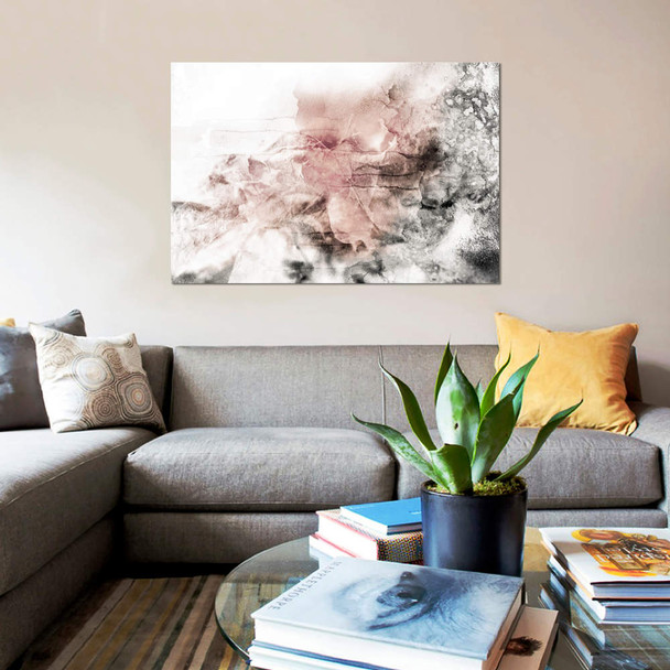 "iCanvas ""Rose Grey Abstract Watercolor"" by Katrina Jones Canvas Print~KAJ56-1PC3"