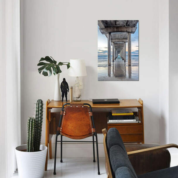 "iCanvas ""Support Pillars, Ellen Browning Scripps Memorial Pier, La Jo"" by Rob Tilley Canvas Print~RTI7-1PC3"