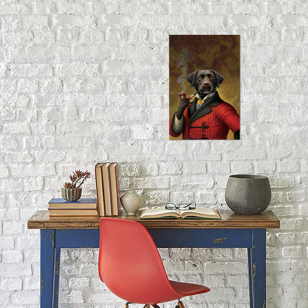 "iCanvas ""The Red Beret (Dog)"" by Dan Craig Canvas Print~9207-1PC3"