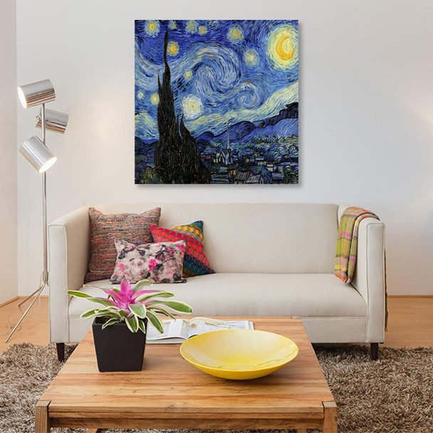 "iCanvas ""The Starry Night"" by Vincent van Gogh Canvas Print~1523-1PC3"
