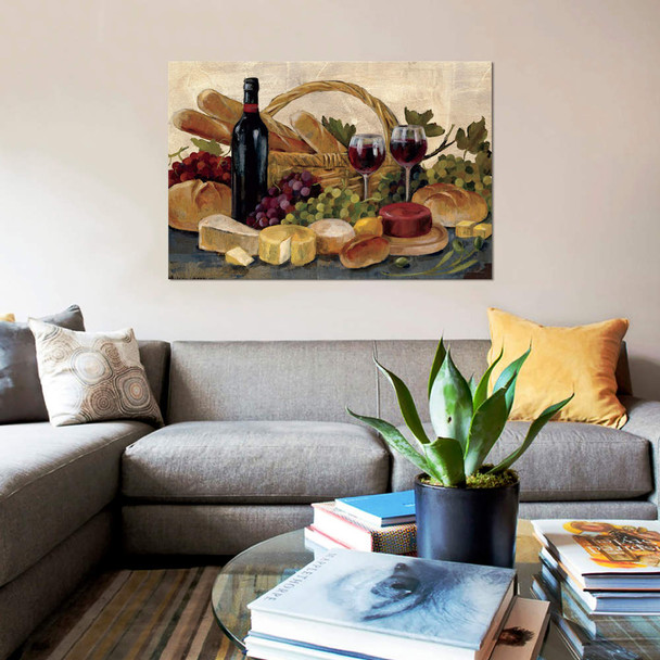 "iCanvas ""Tuscan Evening Wine"" by Silvia Vassileva Canvas Print~WAC1466-1PC3"