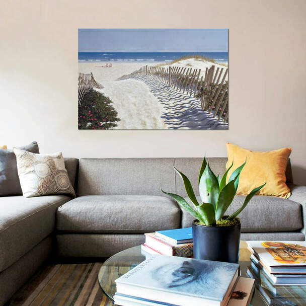 "iCanvas ""Walk To The Beach"" by Zhen-Huan Lu Canvas Print~ZHL122-1PC3"