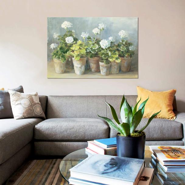 "iCanvas ""White Geraniums"" by Danhui Nai Canvas Print~WAC254-1PC3"