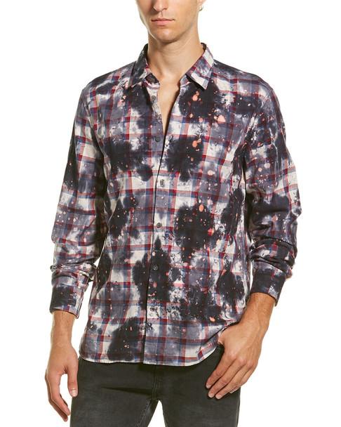John Varvatos Star U.S.A. Gingham Overdyed Woven Shirt~1010304632