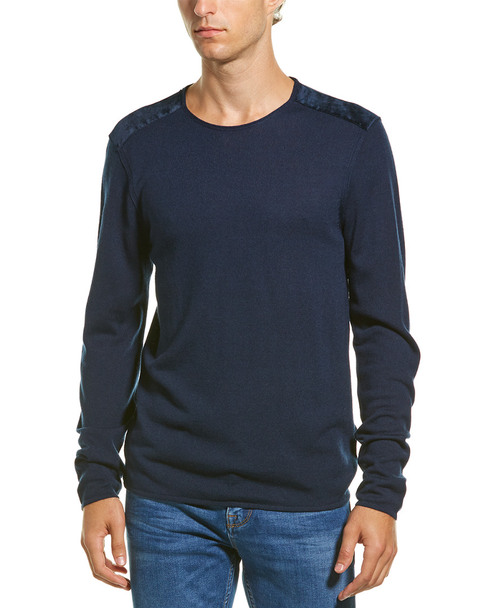 John Varvatos Star U.S.A. Velvet Wool-Blend Crewneck Sweater~1010304657