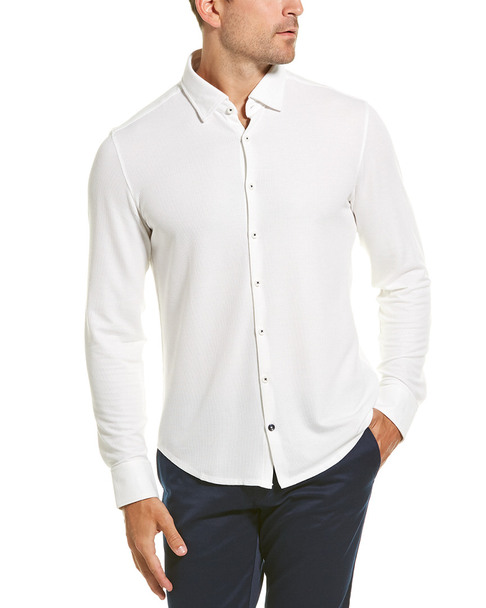Stone Rose Performance Button-Down Shirt~1010306250