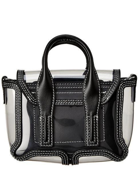 3.1 Phillip Lim Transparent Pashli Nano Leather Satchel~11603117360000