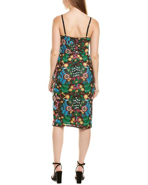 BCBGMAXAZRIA Embroidered Sheath Dress~1411032734