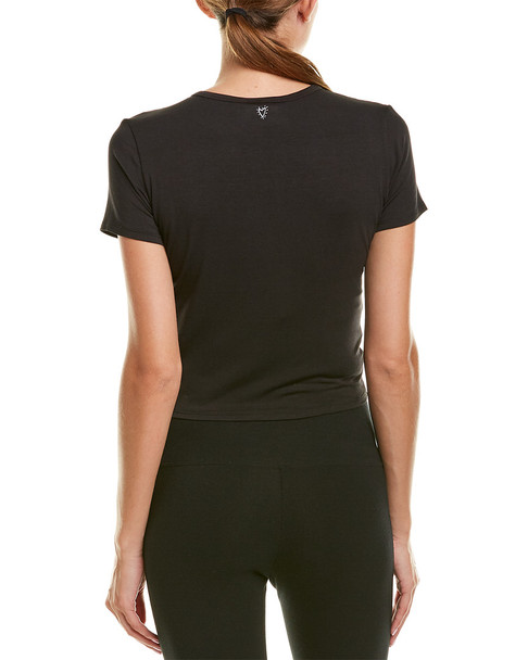 Betsey Johnson Twist Front Cropped T-Shirt~1411182518