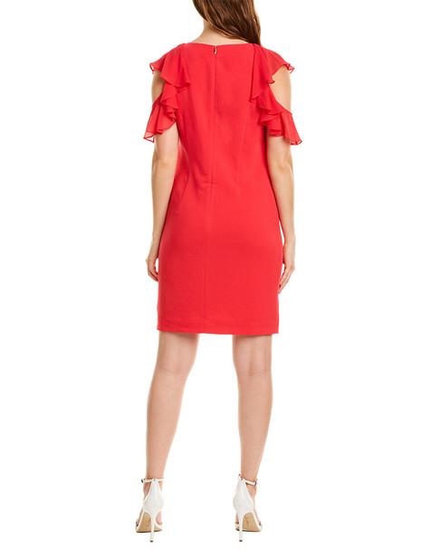 Trina Turk Amanda Silk-Trim Shift Dress~1411267673