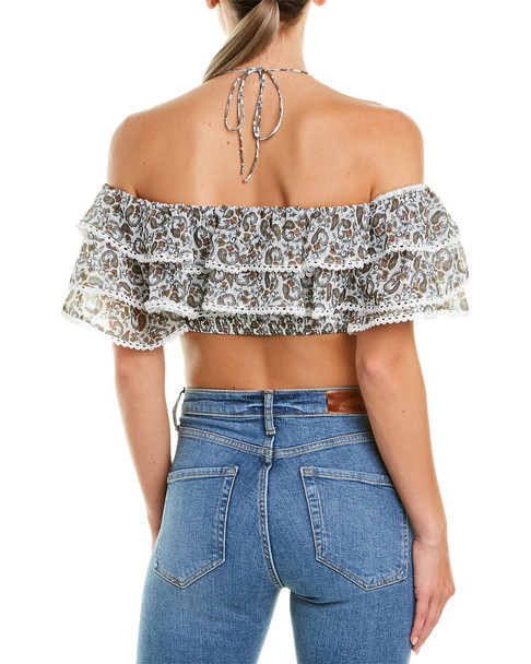 The Jetset Diaries Off-the-Shoulder Dazed Top~1411306863