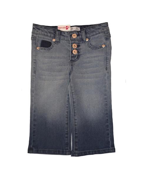 Kensie Girl Dip Dye Wide Leg Crop Pant~1511243882