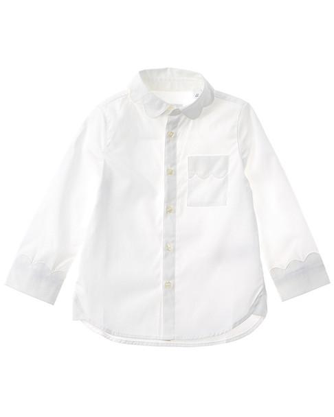 Burberry Scalloped Detail Stretch Woven Shirt~1511300368