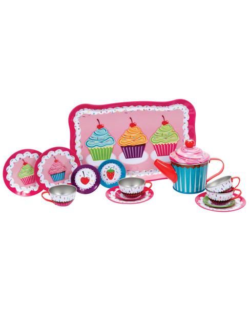 Schylling Cupcake Tin Tea Set~50407951830000