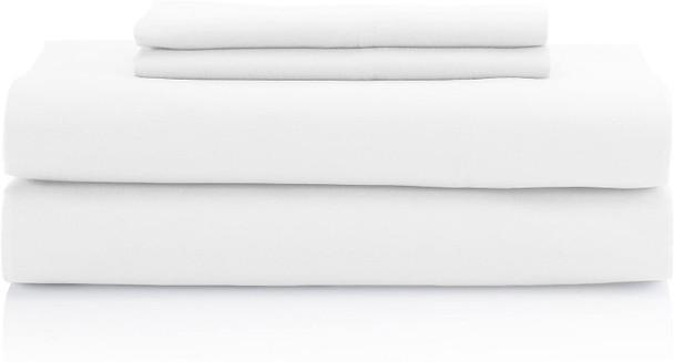 Easy Care Microfiber Solid 4-pc. Sheet Sets White Full Sheet Set