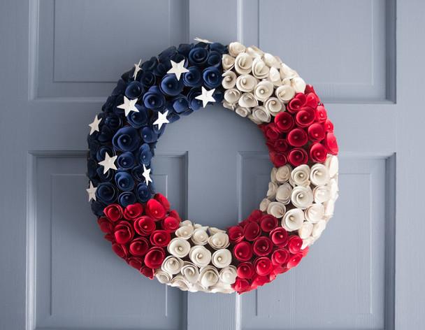 Living Quarters Christmas Door Ornament American Flag