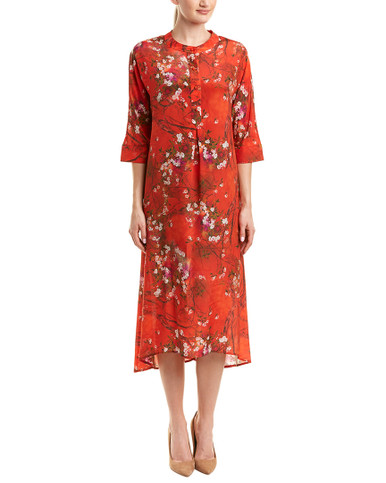 POKWAI Silk Shift Dress~1411939892 - Younkers