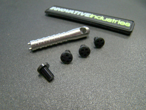 5 Hole Head Grip screws Black Stainless steel