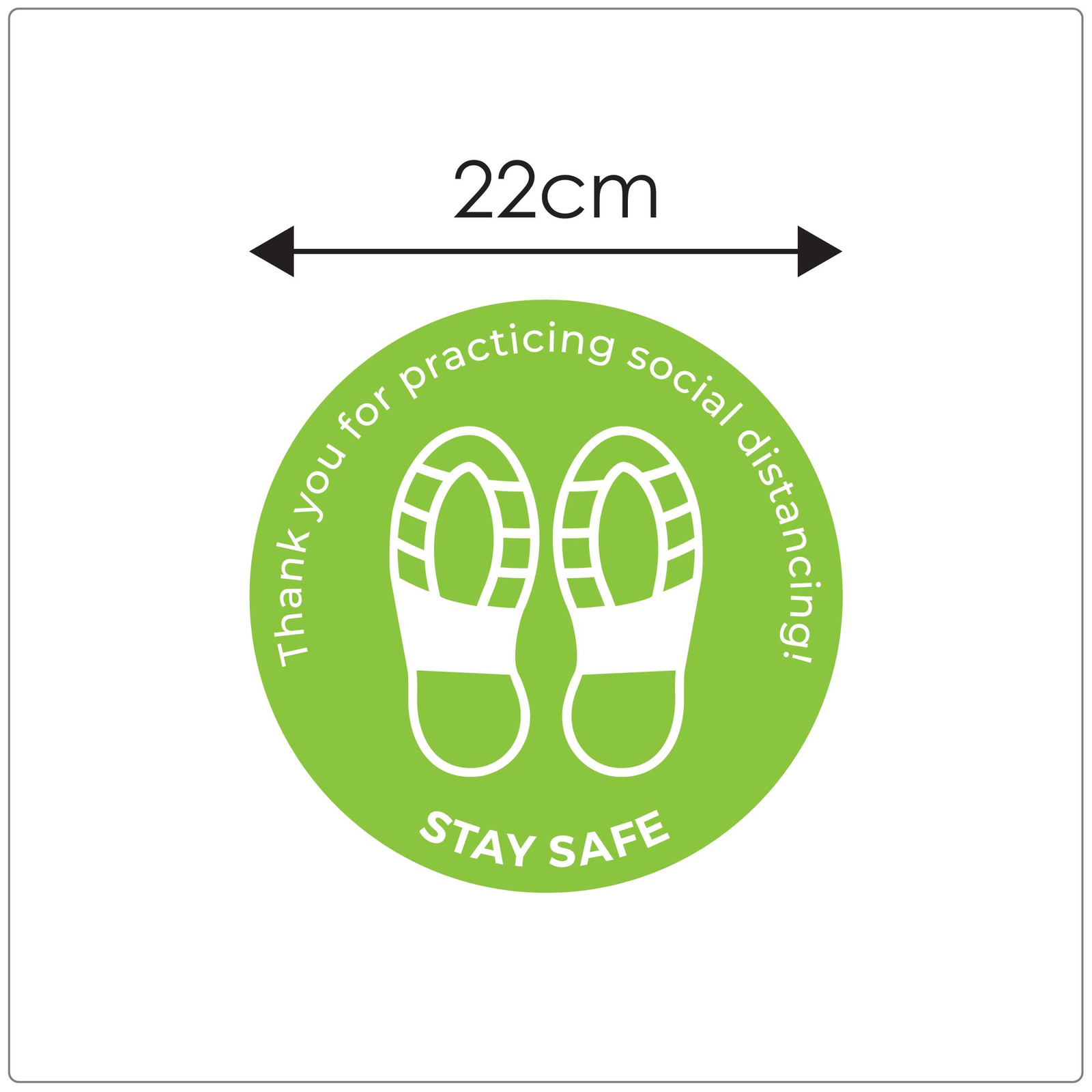 social distancing floor sticker for carpet, sizing Self-adhesive Corona virus floor sticker to help social distancing.