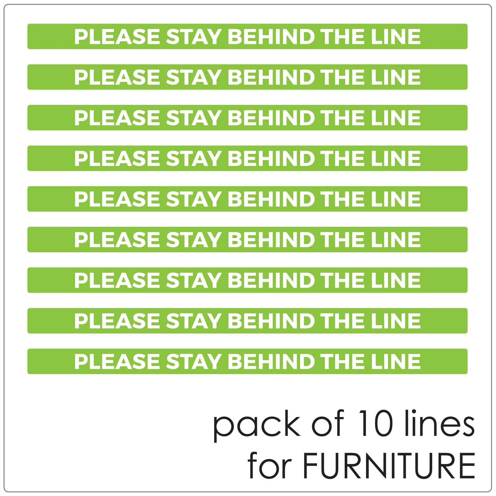 social distancing COUNTER stickers, pack of 10 Self-adhesive Corona virus furniture sticker to help social distancing.