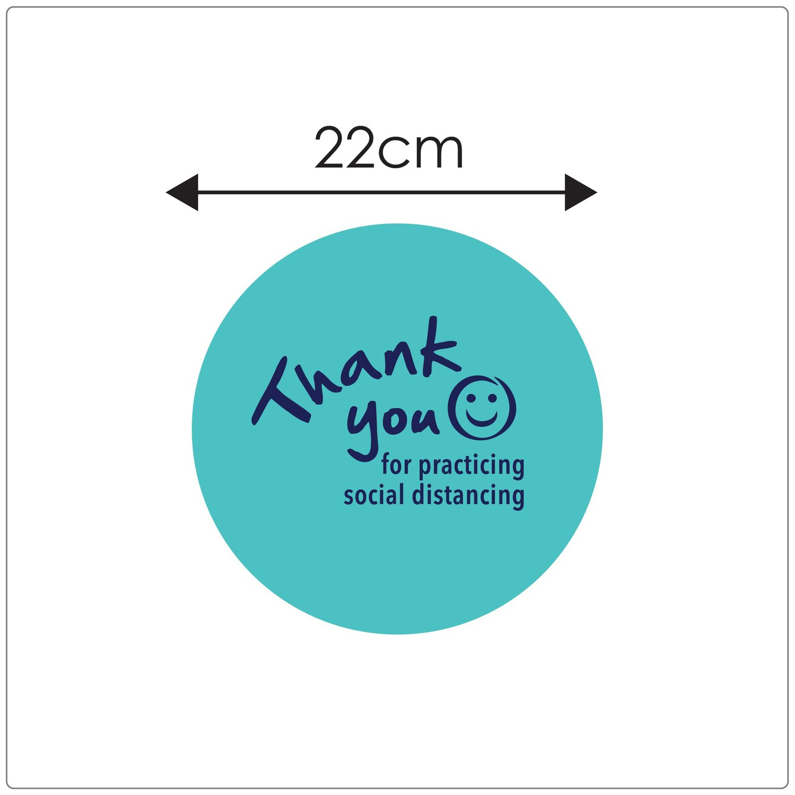 social distancing floor marker for carpet, sizing, teal Self-adhesive Corona virus floor marker to help social distancing