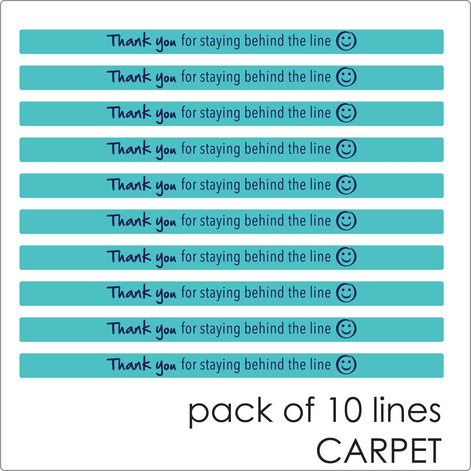 social distancing floor sticker for carpet, 10 lines, teal Self-adhesive Corona virus floor sticker to help social distancing.