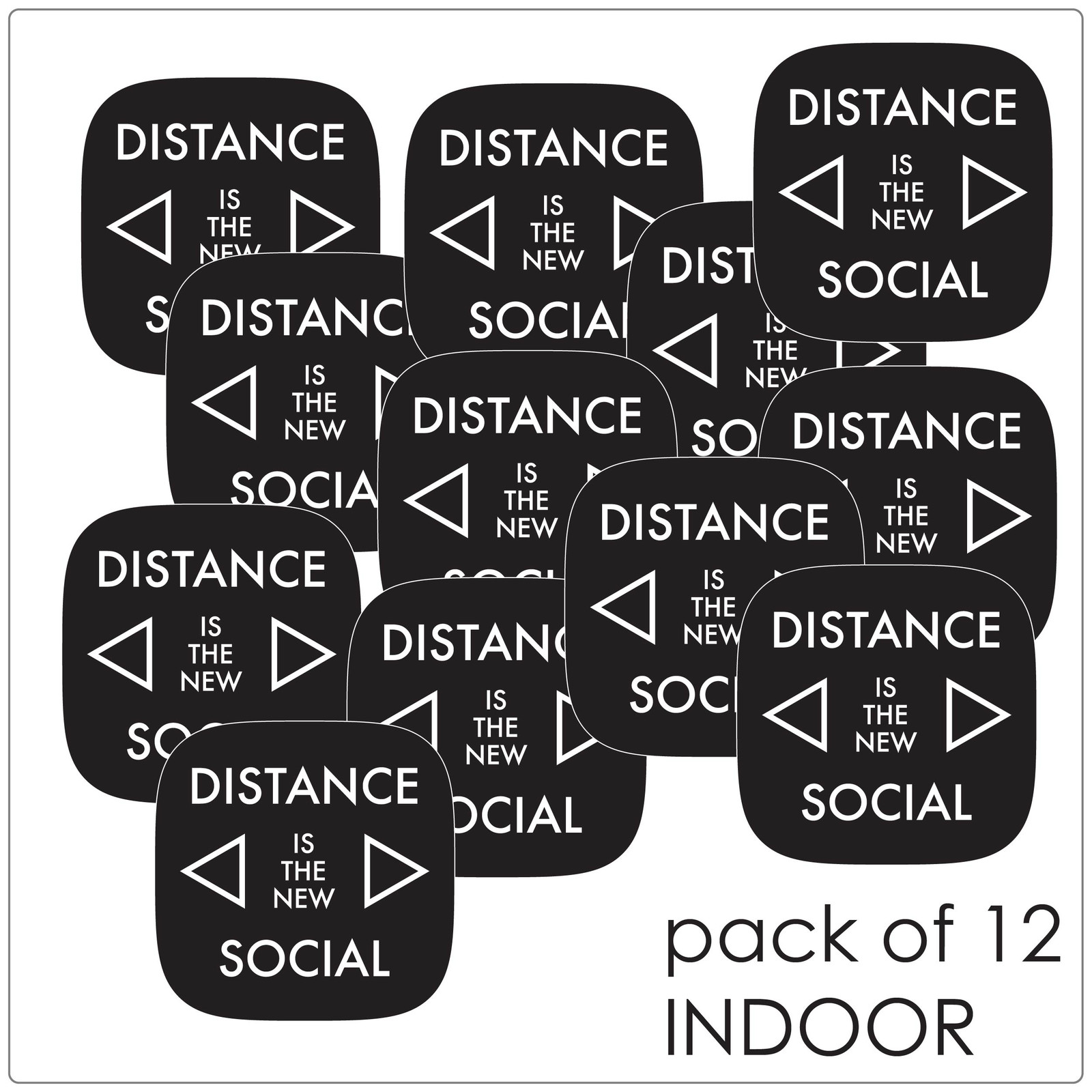 social distancing floor marker for hard floors, pack of 12, contemporary, black Self-adhesive Corona virus floor marker to help social distancing