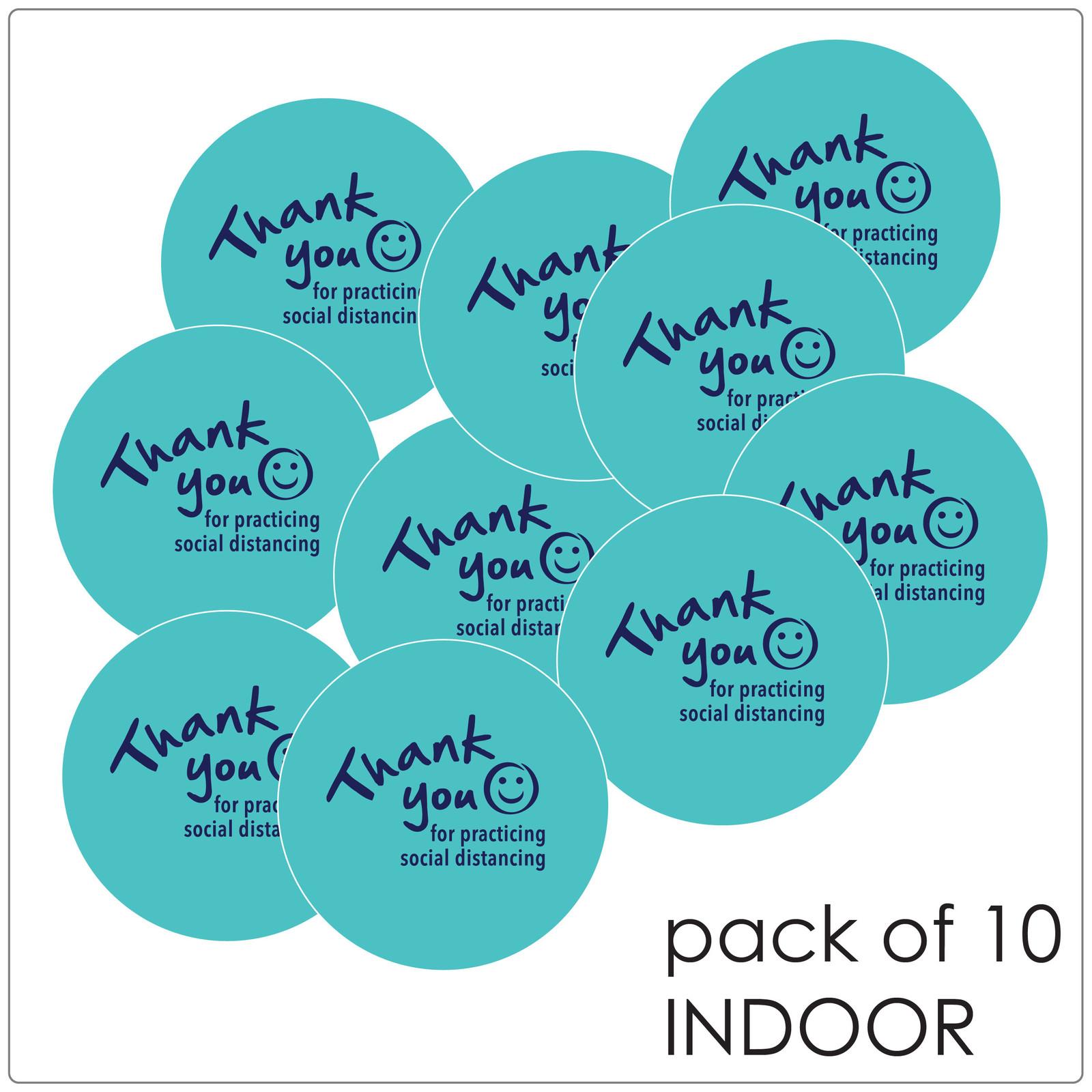 social distancing floor sticker for hard floors, pack of 10. teal Self-adhesive Corona virus floor sticker to help social distancing.