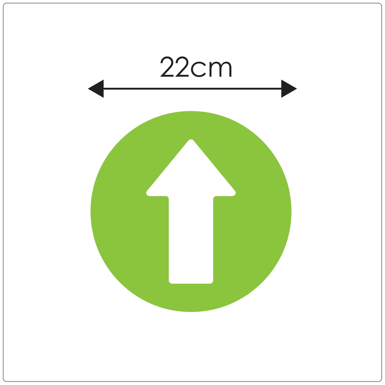 directional arrow social distancing floor sticker for hard floors, sizing, green Self-adhesive Corona virus floor sticker to help with traffic flow