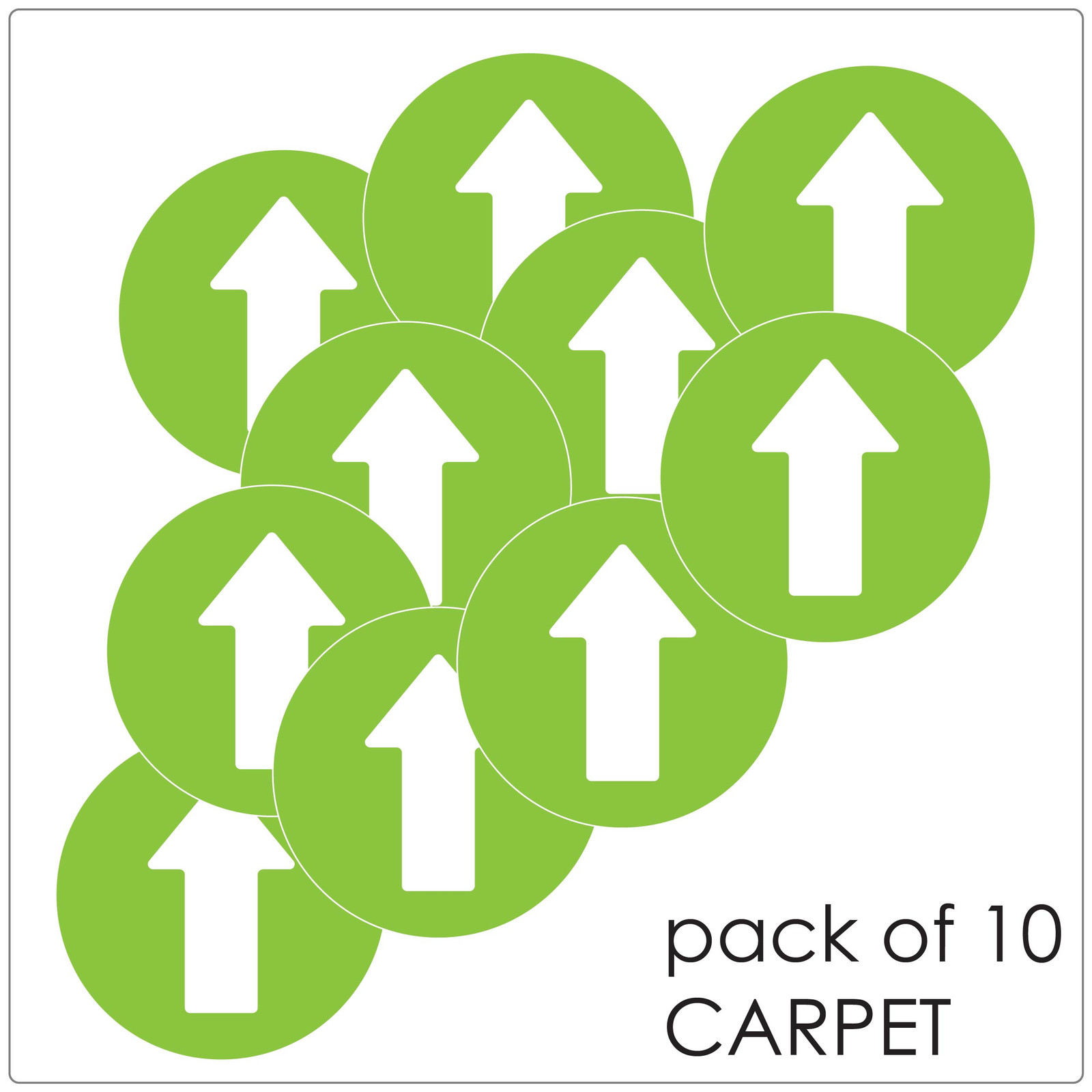 directional arrow social distancing floor sticker for carpet, pack of 10 Self-adhesive Corona virus floor sticker to help social distancing.