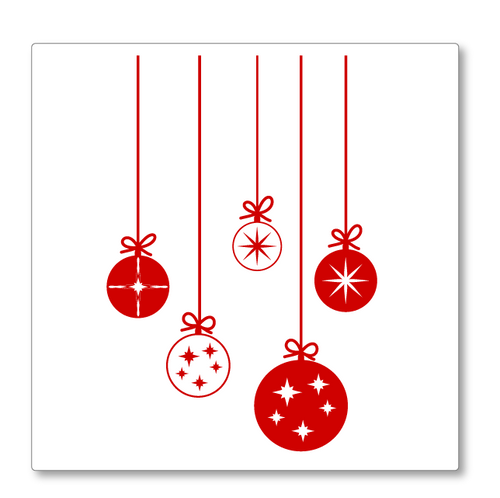 Delightful Christmas baubles, cute in style. Use these to create a pop of colour in your Christmas decorations. Shown in red.