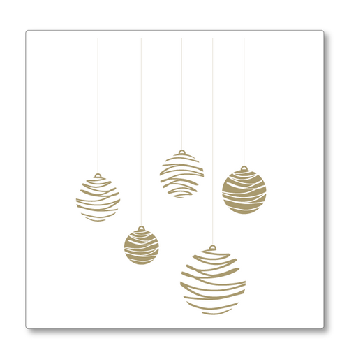 Delightful Christmas baubles, modern in style. Use these to create a pop of colour in your Christmas decorations. Shown in gold.